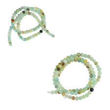 4mm Natural Charm Amazonite Gemstone Loose Spacer Beads 15'' Strand