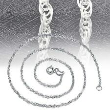 Fashion Pure Solid 925 Sterling Silver Rope Chain Necklace with Lobster Clasp #8