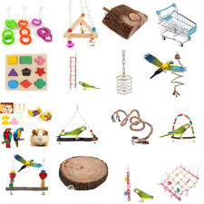 Parrot Birds Chewing Foraging Blocks Lot Cage Furniture Toy Active Play Center