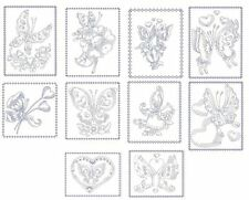 Hearts & Butterflies Redwork Machine Embroidery-30 Designs-By Anemone Embroidery