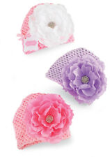 Mud Pie Baby MESH JEWELED FLOWER HAT 355027 Mud Pie Baby Buds Collection