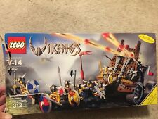 LEGO Vikings Army of with Heavy Artillery Wagon 7020 Set 99% Complete n Box Figs