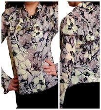 Ladies Blouse Womens Long Sleeve Shirt Casual Tunic Top Size 10 12 14 16 18 20