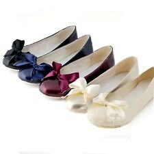 Ladies Indie Bow Pretty Ballerinas Loafers Ballerina Flats