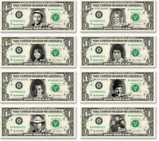 Celebrity on REAL Dollar Bill Money Cash Collectible Memorabilia Novelty Bank W2
