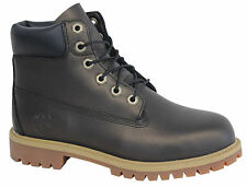 Timberland Earthkeepers Lace Up Premium Black Leather Junior Boots A19XP D132