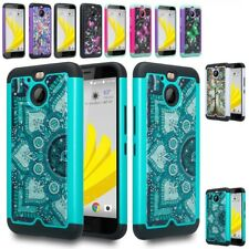 For HTC Bolt / 10 Evo Shockproof Hybrid Hard Diamond Bling Case Protective cover
