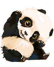 "16""x20"" DIY Paint By Number Kits On Canvas Frame Paintings Craft panda 1298"
