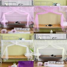 Elegant Students Bed Canopy Mosquito Net Bunk Encrypted 4 Corner Post Netting