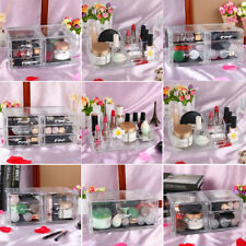 Clear Acrylic Makeup Organizer Cosmetic Jewelry Display Storage Drawers Case Box