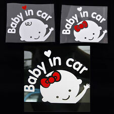 Cartoon Car Stickers Reflective Styling Baby In Car Warming Stickers Decal TB