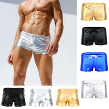 Mens Sexy Shiny Patent Leather Briefs Lingerie Boxer Underwear Short Panties NEW
