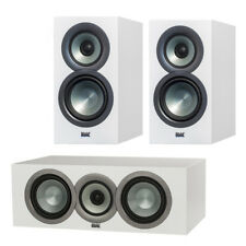 Elac Uni-Fi BS U5 Slim Bookshelf Speakers with Uni-Fi CC U5 Slim Center Speaker