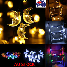 20 LED Solar Powered Moon String Fairy Lights Garden Xmas Party Decor Waterproof