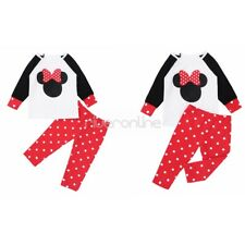 Infant Baby Girl Boy Clothes Outfit T Shirt Kids Polka Dots Pants Set Xmas Party