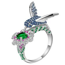 Gorgeous Jeweled Hummingbird Ring - Ginger Lyne Collection
