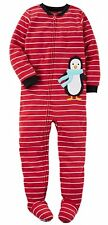 NWT ☀FOOTED FLEECE☀ CARTERS Boys PENGUIN Pajamas   12m   2T