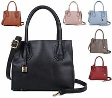 LADIES FAUX LEATHER STYLE SHOPPER BUCKET SALLY YOUNG PADLOCK SHOULDER HANDBAG