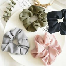 Trendy Lady Hair Scrunchie Ring Elastic Pure Color Bobble Sports Scrunchie Gift