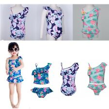 Baby Kids Girl Floral Bikini Tankini One-shoulder Swimwear Swimsuit Bathing Suit