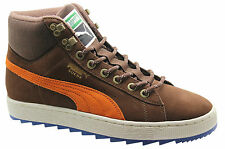 Puma Suede Classic + Rugged Boots Mens Shoes Leather Brown 357017 03 U97