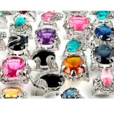 10/20/50pcs Wholesale Mixed Lots Ring Crystal Jewelry Gifts Womens Band Rings US