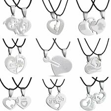 Attractive Heart Love Family Couple Lovers Necklace Pendant Chain Jewelry Gift