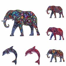 Fashion Colorful Printing Cute Animal Elephant Dolphin Brooch Pin Jewelry Gift