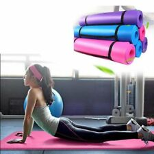 10mm Thickness Yoga Mat Non-slip Exercise Pad Health Lose Weight Fitness SA