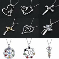 Charm Fashion Women Cross Heart Love Crystal Necklace Pendant Jewelry Chain Gift