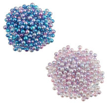 300Pcs New 5mm Colored Imitation Pearl ABS Plastic DIY Loose Beads Findings