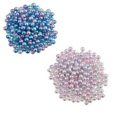 400Pcs 4mm Hot Round Imitation Pearl ABS Plastic DIY Loose Beads Findings