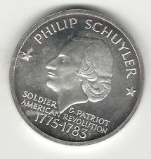 1976 PHILIP SCHUYLER CITY AND COUNTY OF ALBANY COMMEMORATIVE STERLING COIN