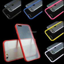 For iPhone 6S/Plus/6 Ultra Thin Hard Clear Bumper Case+Tempered Glass Screen