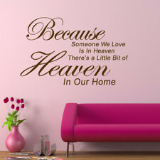 1x Removable Art Vinyl Wall Sticker Decals Mural Quote Poem Home Room Decor