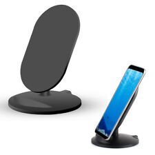For iPhone X 8 Samsung Galaxy S8+ Qi Wireless Charger Fast Charging Stand Dock