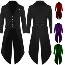 New Men Steampunk Military Tailcoat Coat Long Jacket Gothic Party Business Parka