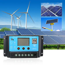 10A/20A/30A Auto Switch Battery Solar Panel Charge Controller Regulator 12/24V