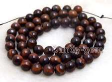 """SALE small 6mm Round Red natural tiger's-eye gemstone Beads strand-15"""" -los695"""