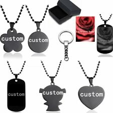 Stainless Steel Custom DIY Photo Picture Dog Tag Pendant Necklace Keychain Gift