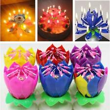 Fashion Lotus Flower Festival Birthday Cake Decorative Music Candles TXCL 03