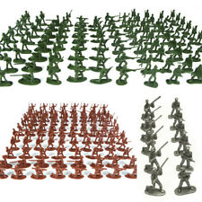 100Pcs New Plastic Army Men Figures Military Set Soldiers Toy Silver Green Brown