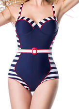Retro Sailor 50s Pin Up Sailor Vintage Style Swimsuit Marine Swimwear S-XXXL