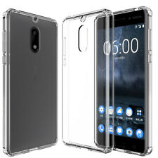 Nokia 6 / 8 Case Cover, Shockproof Hybrid Crystal TPU Bumper Case