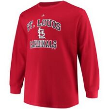 NWT ST LOUIS CARDINALS MAJESTIC MLB Red Thermal Shirt Many Sizes  290400RM