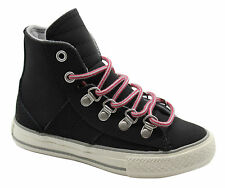 Converse Chuck Taylor CT Sneaker Boot Hi Trainers Black Leather Lace 632510C D41