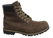 Timberland Foraker 6 Inch Lace Up Dark Brown Waterproof Leather Boots 6857B D131