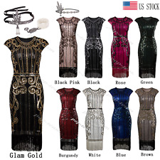 Cocktail Dress Vintage 1920s Flapper Gatsby Costume Long Prom Evening Dresses