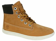 Timberland Groveton Lace Up Side Zip Wheat Nubuck Leather Junior Boot A161I D108