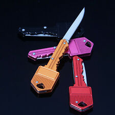 Mini Pocket Key Folding Knife Blade Outdoor Survival Hunting Tool Cute Gift YO
